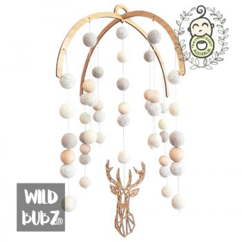 Felt baby mobile | Ombre Neutral | Geo Stag |
