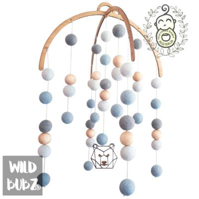 Felt baby mobile | Dusty Blues | Geo Bear |