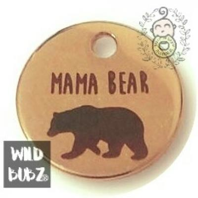 MAMA BEAR - Rose Gold keyring bag charms