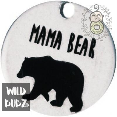 MAMA BEAR - Stainless steel keyring bag charms