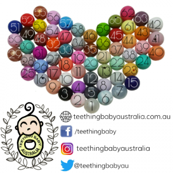 TWO TONE | PERSONALISED | Silicone + Beech Ring | Teether Toy | FREE ENGRAVING