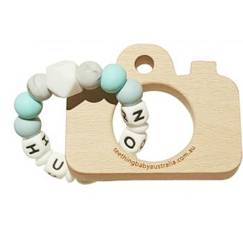 PERSONALISED | Silicone Name Teether | Beech wood Toy