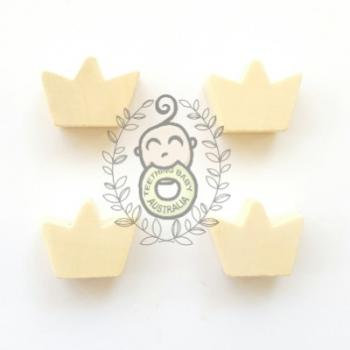 Wooden Crown Beads - Maple wood