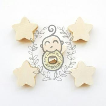 Wooden Star Beads - Maple