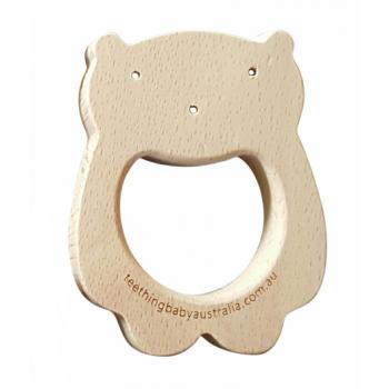 WOODLAND BEAR - Beech Wood Teether Toy