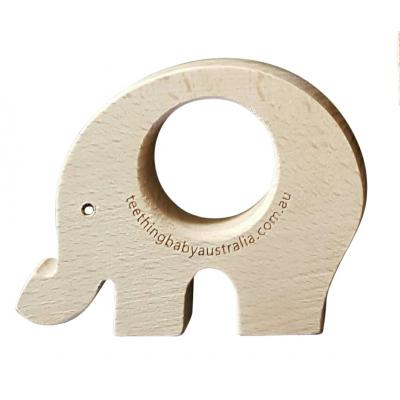 Beech Wood Teether Toys - Elephant WS