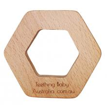 Hex Geo Eco Beech Wood Teether Toy