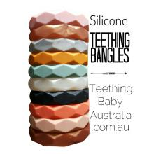 Silicone Geo Chew Teething Bangles