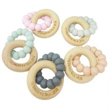 NATURE | WILD BUBZ® Basics | Nature Teether + Beech Ring | Optional Name Engraving