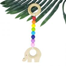 RAINBOW BRIGHT | Play Gym | Nature Teething Toy | Beech wood Toy | Customisable