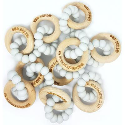 WHOLESALE | BASICS Silicone teething toys + beech rings | Safety Certified | WILD BUBZ®