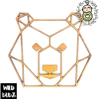Bear Cub Head – Bamboo Geo Woodland Animals