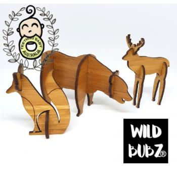 Woodland Animal Set - 3D Laser Cut Scandi Home / Nursery Decor