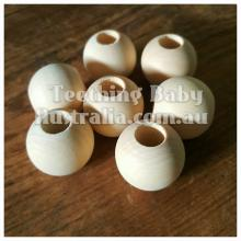 25 mm|10mm hole |Round Wood Eco Natural Beads