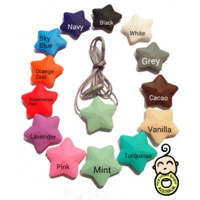 45mm Stars - Silicone Beads - Food grade