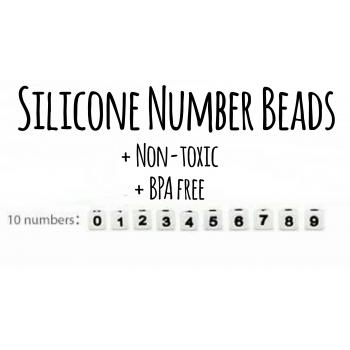 Number Silicone Beads - 12mm