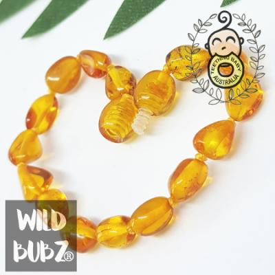 Golden Honey | Premium Bean | Baltic Amber | Bracelet / Anklet | Polished