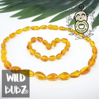 Golden Honey | Premium Bean | Baltic Amber | Set | Polished | Adult