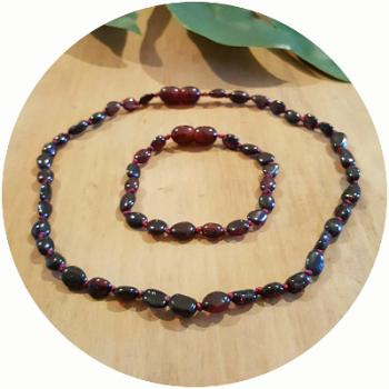 Cherry | Premium Bean | Baltic Amber | Set | Polished