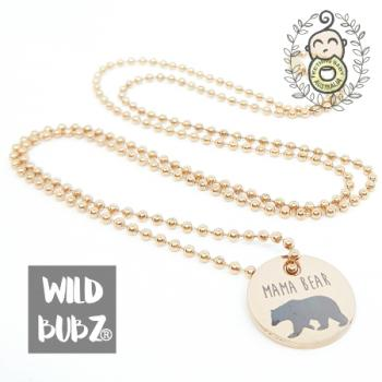 MAMA BEAR | Rose Gold Stainless Steel | Necklace