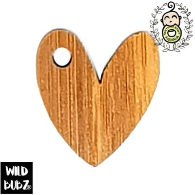 20mm Bamboo Heart Charm | Made in Australia by us | as low as $0.59