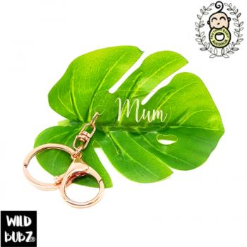 MUM | Key Ring | Clear | Engraved + Customisable