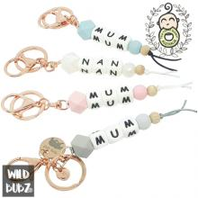Personalised | NAME | Keyring | Bag Tag | Charm | Silicone | WILD BUBZ®