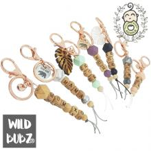 Personalised | NAME | Keyring | Bag Tag | Charm | Beech Wood | WILD BUBZ®
