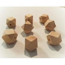 20 x 20mm Wood Eco Natural Beads Hexagon faceted