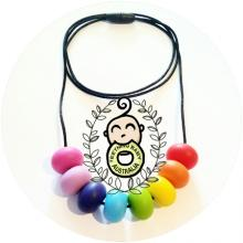 Rainbow Abacus Silicone Necklace