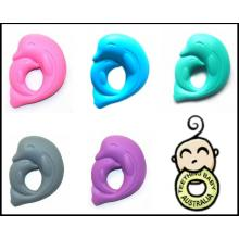 3+ Silicone Dolphin | Necklace Pendant pop clasp
