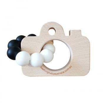 Monochrome Beech Teether Toys | FREE ENGRAVING