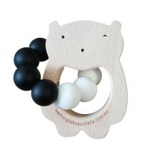 Monochrome Beech Teether Toy