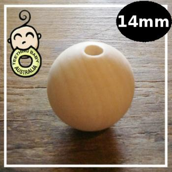 14 mm Round Wood Eco Natural Beads