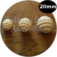20mm Bee Hive Wood Eco Natural Beads | SMOOTH | Raw | as low as $0.59