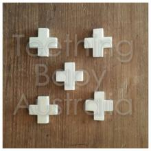 20 mm Swiss Cross Wood Beads eco natural