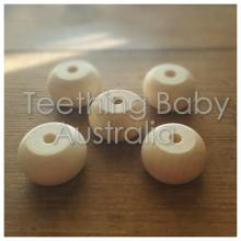 30mm Abacus Eco Wood Natural Beads