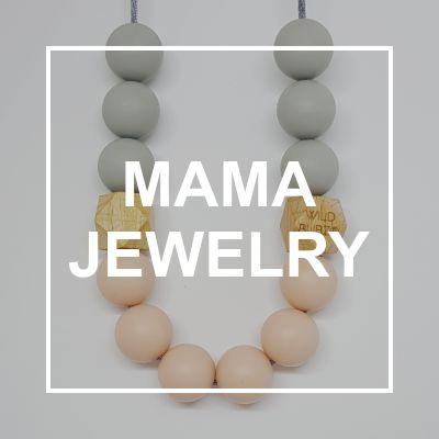 Silicone & Wood Mama Jewellery